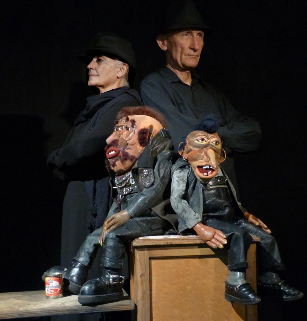 Panard et Grodo et marionnettistes